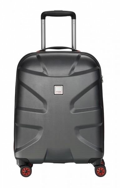 Titan Koffer X2 S 55 cm 4 Rollen Black Brushed Limitiert