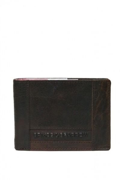 Spikes & Sparrow Geldbörse in vintage Dunkelbraun