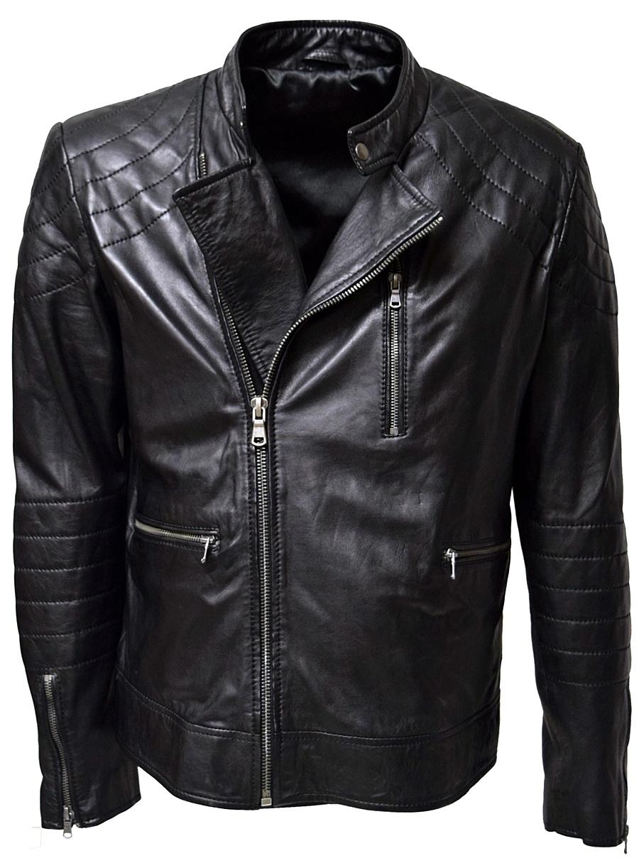 herren biker lederjacke perfecto in washed schwarz leder2000. Black Bedroom Furniture Sets. Home Design Ideas