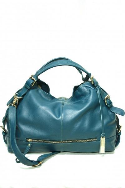 Masquenada Damen Hobo Bag in Petrol mit Gold Details