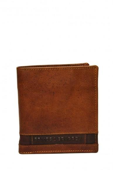 Spikes & Sparrow Geldbörse mit vielen Kartenfächer in Brandy