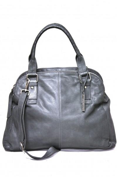 Masuenada Knautschige Hobo Bag in washed Grau