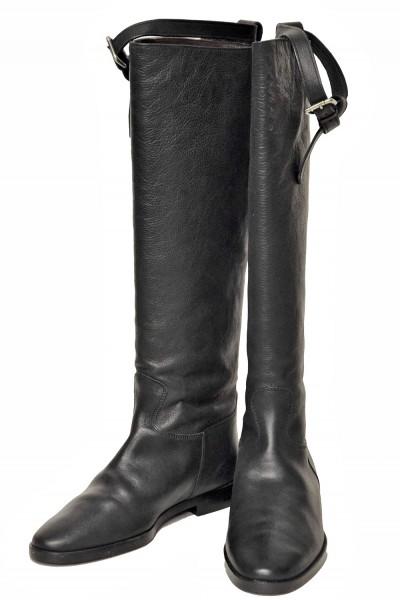 Damen Stiefel aus feinem Kalbsleder in Schwarz