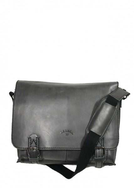 Branco Unisex Umhängetasche aus antiken Rindsleder Dunkel Grau