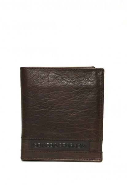 Spikes & Sparrow Geldbörse mit vielen Kartenfächer in Dunkelbraun