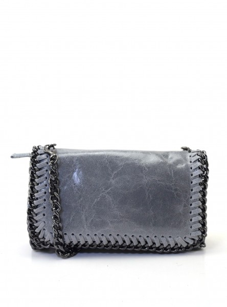 Bluebutton Mini Cross Body Bag in Grau