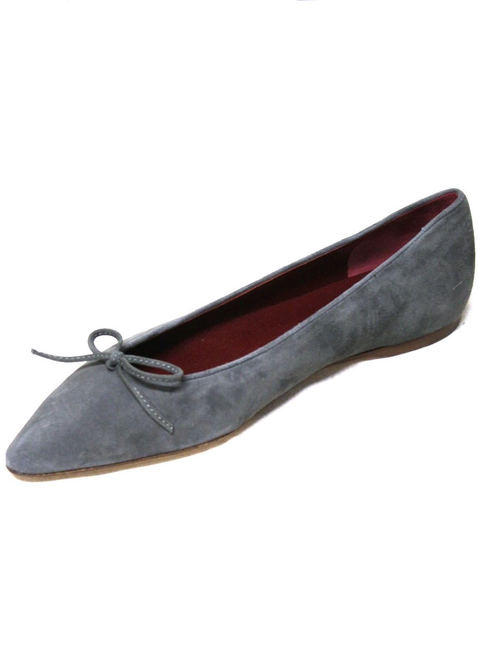 sports shoes 361cc 75281 Ballerina aus feinem Ziegenvelour in Grau