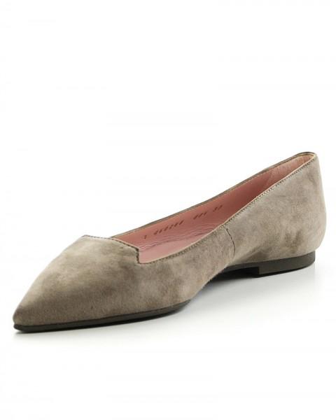 Spitze Pretty Loafers Ella in der Farbe Taupe